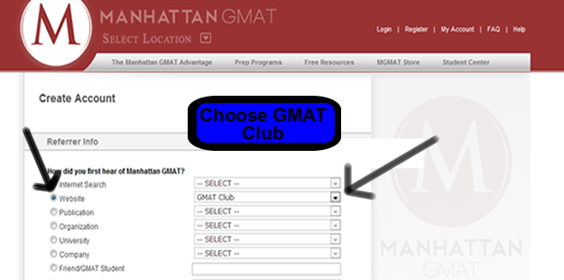 MGMAT Registration Page