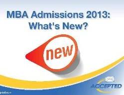 MBA 2013 Trends Webinar