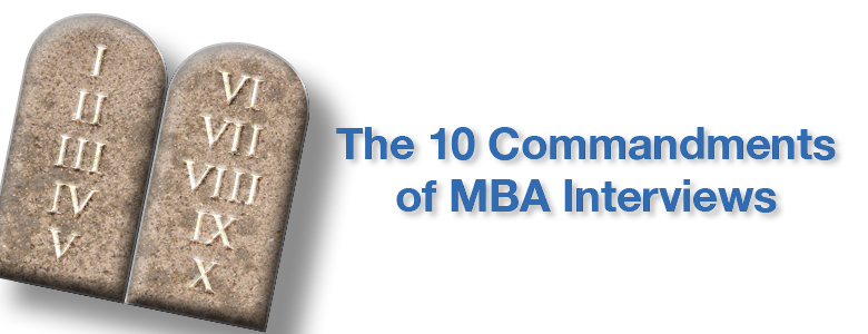 MBA-Interview-Commandments