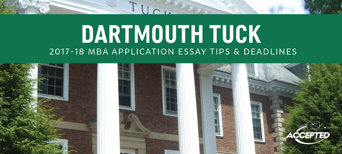 tuck business school essays