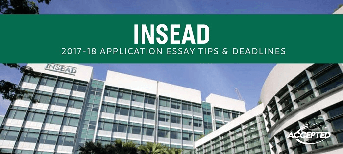 insead mba essays 2009 Guidance from an admissions expert on how to approach answering insead's first mba application essay quest.