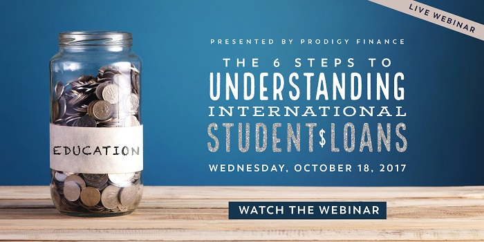 "If you missed the webinar ""The Six Steps to Understanding International Student Loans"" you can watch it now for free!"
