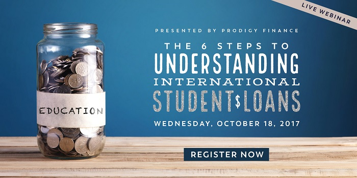 Last chance to register for the Webinar to learn all about international student loans.