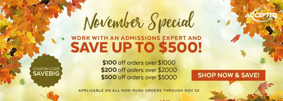 Shop now and save with our November sale