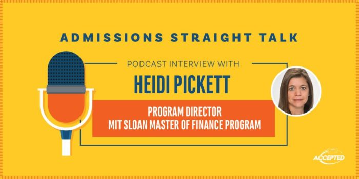 MIT Sloan Master of Finance Program Heidi Pickett