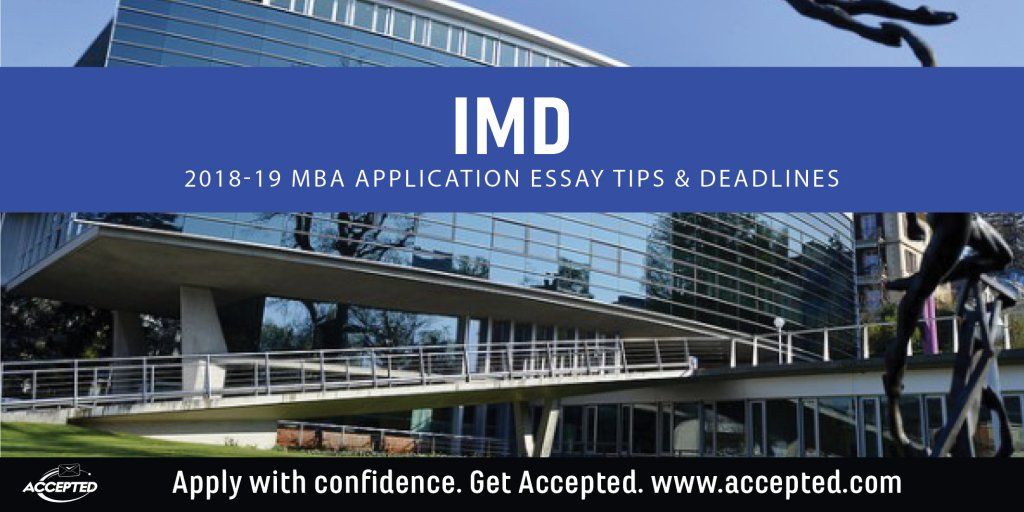 imd mba essay Mba the imd mba class of 2014 90 exceptional people who will shape the  future of business international diversity western & southern europe 33 % asia  24.