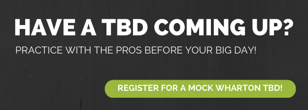 Register for a mock Wharton TBD!