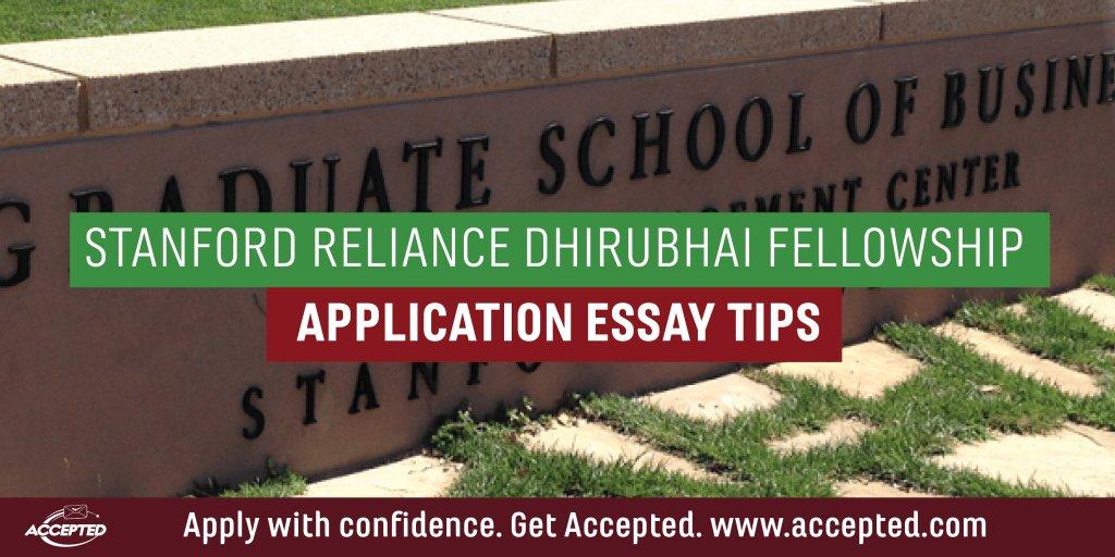 Stanford-Reliance-Dhirubhai-Fellowship
