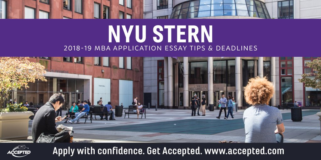 nyu stern mba essays tips Nyu stern executive mba essay tips & deadlines by  nyu stern executive mba application essays adhere to the essay word limits provided for each question word limits apply to the total essay question for example, your response to essay 2 should answer all of parts (a), (b), and (c.