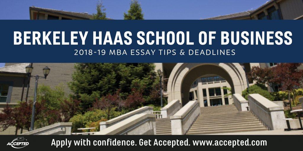 Berkeley Haas 2018-19 MBA essay tips and deadlines