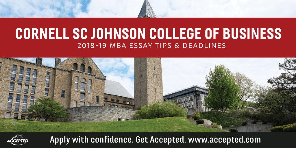 Cornell SC Johnson College of Business 2018-19 Essay Tips & Deadlines