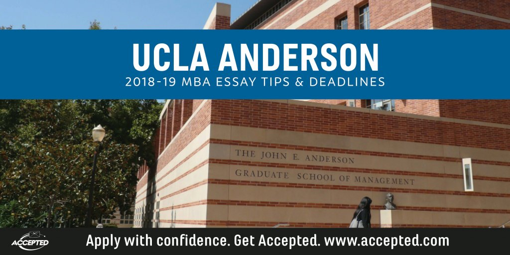 """anderson mba essay analysis For its essay questions, the ucla emba adcom is bucking the """"less is more"""" trend in terms of length the two main essays are both a hefty 750 words, long enough to allow – indeed to require – some in-depth exposition, reflection, analysis, and description."""