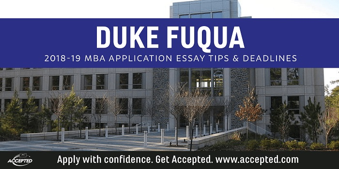 Duke 2018-19 MBA essay tips