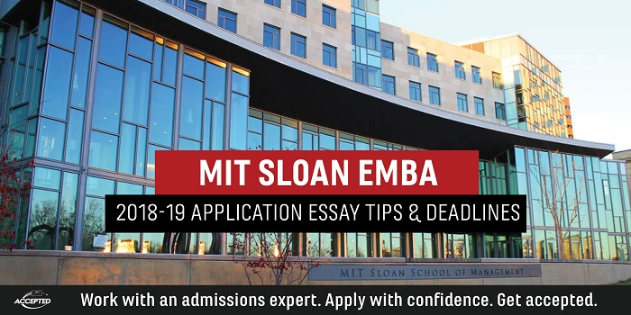 MIT 2018-19 MBA Essay Tips and Deadlines