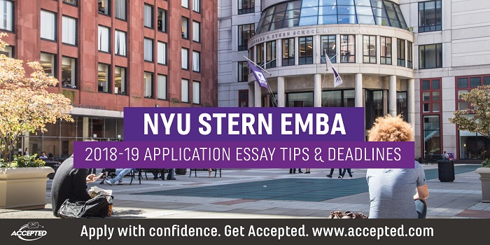 nyu mba essay tips Nyu mba is giving applicants a chance to think beyond the traditional career goal essay this is a beautiful idea, and a unique opportunity to create an interesting story this essay has to be connected to the first essay, about your short-term goals, but at its best it could explore other dimensions of the applicant's profile and aspirations.