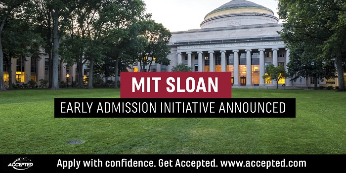 MIT Sloan Early Admission Initiative Announced