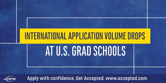 International Application Volume Drops at U.S. Grad Schools