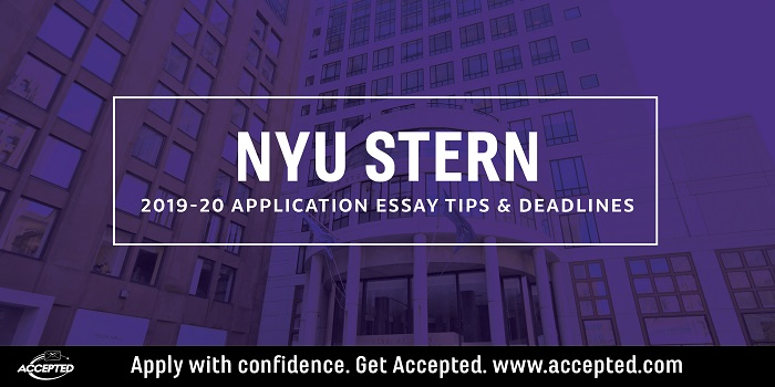 NYU Stern essay tips and deadlines