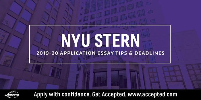 NYU Stern Langone MBA Essay Tips & Deadlines [2019 – 2020]