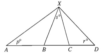 #GREpracticequestion If AB = BX and XC = CD in the figure above.jpg