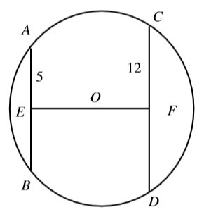 #GREpracticequestion AB and CD are chords of the circle.jpg