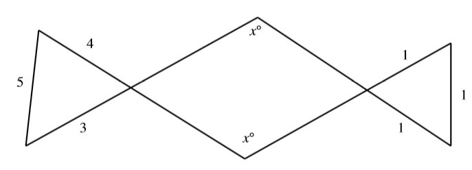 #GREpracticequestion In the figure, what is the value of x  .jpg